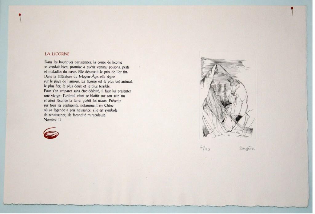 Image de l'estampe Licorne